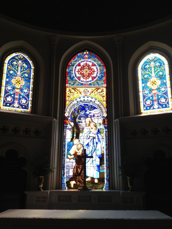 trinity columbia altar windows